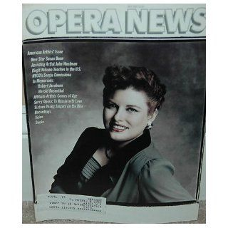 Opera News Magazine Vol 52 Number 1 July 1987 Susan Dunn Birgit Nilsson Sergiu Comi (July, 1987): Martin Mayer: 0016991099916: Books