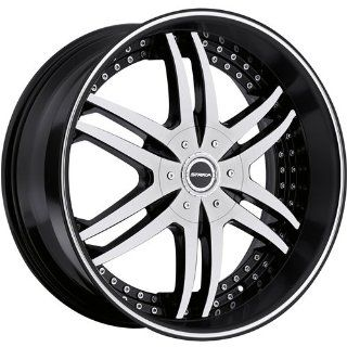 Strada Denaro 22 Machined Black Wheel / Rim 5x4.75 & 5x5 with a 18mm Offset and a 78.1 Hub Bore. Partnumber S12250618BM: Automotive