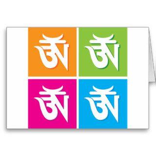 Auspicious Hindu OM / Aum Symbol Card