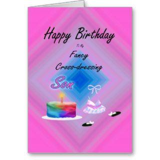 Happy Birthday Cross Cressing Son   card
