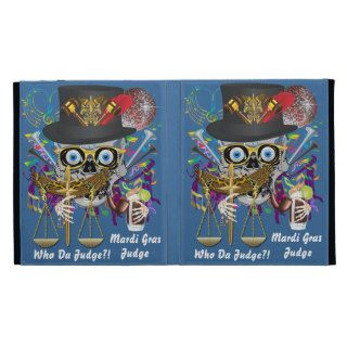 Mardi Gras Judge  30 colors Important view notes iPad Folio Case