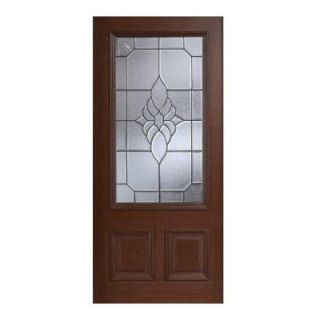 Main Door Mahogany Type Prefinished Antique Beveled Patina 3/4 Glass Solid Wood Entry Door Slab SH 556 ATQ BPT