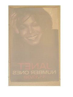 Janet Jackson Window Slick Cling Poster Number Ones : Prints : Everything Else