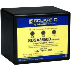Square D by Schneider Electric Panel Mounted Delta Power Systems Surge Protective Device SDSA3650D