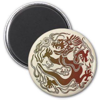 Oriental Dragon Tattoo Design Magnet