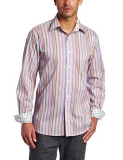 Report Collection Men's Stripe Button Front Shirt at  Men�s Clothing store