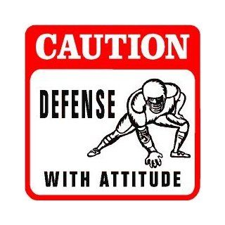 CAUTION DEFENSIVE PLAYER football game sign   Decorative Signs