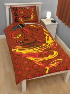 Lego Ninjago 'Fire' Single Panel Duvet Cover Set Küche & Haushalt