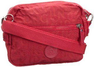 Kipling LINA MA K12121, Unisex Erwachsene Messengertaschen, Rot (Peony Logo 142), 20x16x5 cm (B x H x T): Koffer, Rucksäcke & Taschen