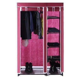 Songmics Faltschrank Kleiderschrank Garderobe Campingschrank 175 cm LSF001: Küche & Haushalt