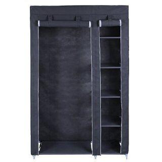 Songmics XL Garderobe Stoffschrank Faltschrank Kleiderschrank Campingschrank 175 x 110 x 45cm LSF007G: Küche & Haushalt