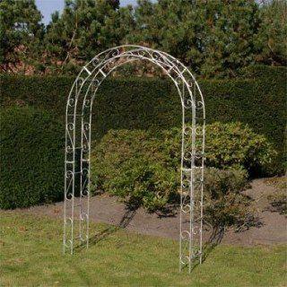 Rosenbogen mit Dekor Eisen verzinkt Vollmaterial: Garten