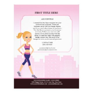 Custom Fitness Flyer with Illustration