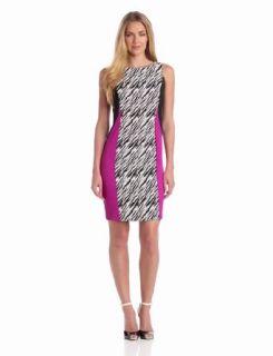 Julian Taylor Women's Colorblock Zebra Print Dress, Cream/Black, 10 Missy at  Women�s Clothing store: