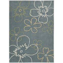 Nourison Hand tufted Metropolitan Blue Floral Rug (3'6 x 5'6) Nourison 3x5   4x6 Rugs
