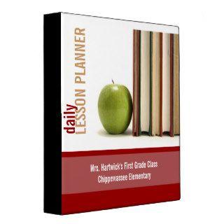 School Teacher's Lesson Planner Binder