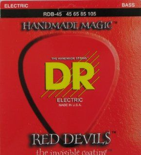 """DR Strings Bass Extra Life�""""� Red Coated, .045 .105, Red Devils, MR RD 45 Musical Instruments"""