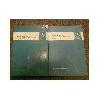 1986 1987 MERCEDES Model 124 107 126 201 Service Repair Manual FACTORY OEM SET mercedes Books