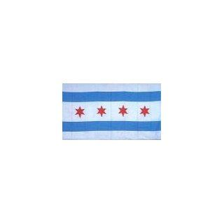 Chicago City Flag Embroidered Patch Iron On Illinois Emblem Clothing