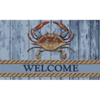 Home Dynamix Fiesta Crab Multi 18 in. x 30 in. Outdoor Coir Welcome Mat 1A 780