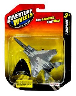 "Maisto Adventure Wheels Land Sea Air Tailwinds Series 1136 Scale Die Cast United States Military Aircraft Replica   U.S. Tactical Fighter Jet F 15 EAGLE with Display Stand (Dimension 3 1/4"" x 5"" x 1"") Toys & Games"