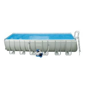 Intex 24 ft. x 12 ft. x 52 in. Rectangular Ultra Frame Pool Set DISCONTINUED 28361EG