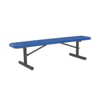 Ultra Play 6 ft. Diamond Blue Commercial Park Portable Bench without Back PBK942P V6B