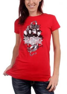 Tokio Hotel   Rock Art Girls S/S T Shirt In Red Clothing