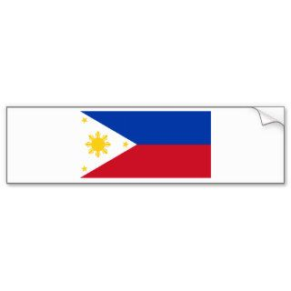 Philippine Flag, Philippine Islands National Flag Bumper Sticker