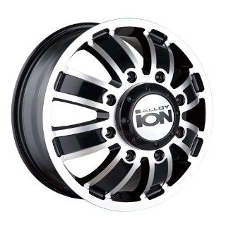 "Ion Alloy Dually 166 Matte Black Wheel with Machined Face (17x6.5""/8x210mm): Automotive"