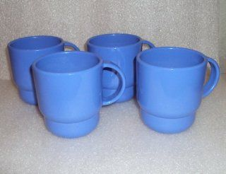 Tupperware Stacking Mugs Coffee Cups True Blue Set of 4  Tupperware Catalog
