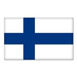 "Finland Finish National Flag car bumper sticker 5"" x 4"" Automotive"
