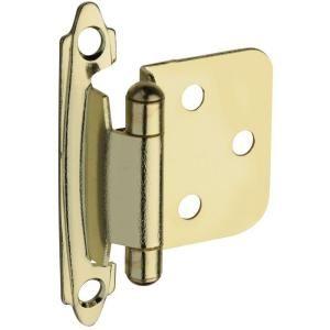 Stanley National Hardware Standard Spring Cabinet Hinge in Brass BB8194 SPR CAB HNGE FL B