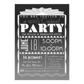 Art Deco Invitation   Gatsby Style  Custom Text