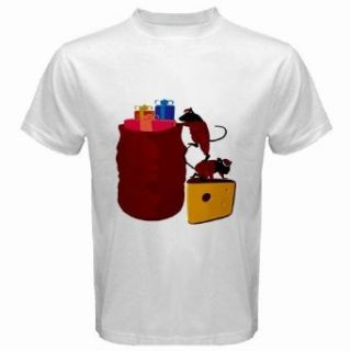 Men's Customized MOUSE MICE CHRISTMAS 100% Cotton White T shirt: Novelty T Shirts: Clothing