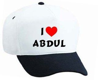 Baseball Cap with I Love Abdul (first name/surname/nickname): Sports & Outdoors