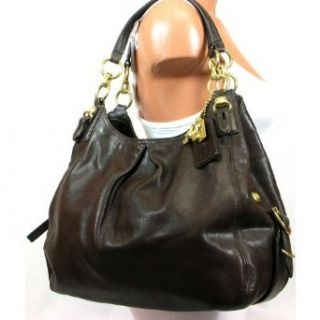 Coach 15742MAH Madison Leather Maggie Shoulder Hobo Bag Purse Tote Brown Handbags Accessories Clothing