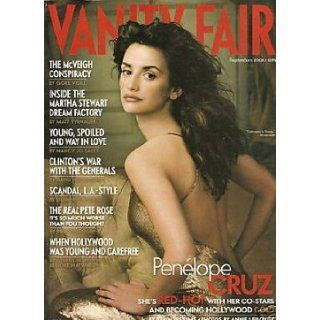 Vanity Fair Magazine September 2001 Penelope Cruz Vanity Fair, Graydon Carter Books