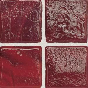 Daltile Sonterra Glass Scarlet 12 in. x 12 in. x 6mm Glass Sheet Mounted Mosaic Wall Tile (10 sq. ft. / case) DISCONTINUED SR5411MS1P