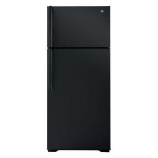 GE 18.1 cu. ft. Top Freezer Refrigerator in Black GTH18GBDBB