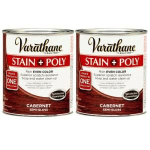 Varathane 1 Qt. Cabernet Wood Stain and Polyurethane (2 Pack) DISCONTINUED 207094