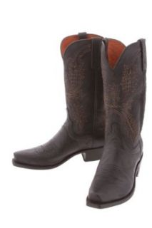 Men's Lucchese 1883 N1560.74 Cowboy Boots, Black Mad Dog Shoes