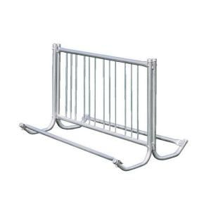 Ultra Play 5 ft. Galvanized Commercial Park Double Sided Bike Rack Portable 5503 5