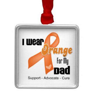 I Wear an Orange Ribbon For My Dad Christmas Tree Ornaments