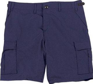 Navy Blue Military BDU Cargo Shorts 65209 Size 2X Large Clothing