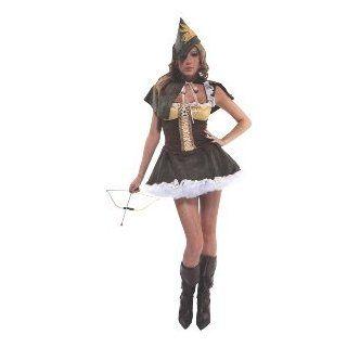 Sassy Swindler Female Robin Hood Adult Costume Size Small/Medium Clothing