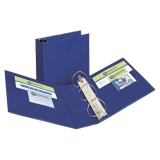 Avery Durable Binder with Two Booster EZD Rings, 4 Capacity   Blue