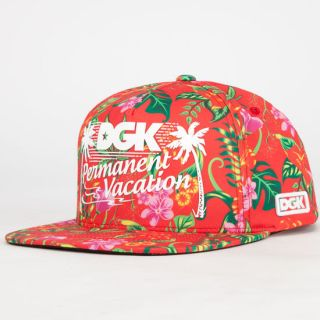 Permanent Vacation Mens Snapback Hat Red One Size For Men 232831300