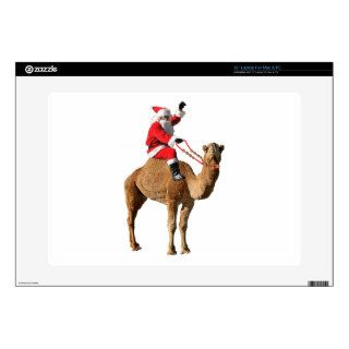 "Christmas 2013 Hump Day Camel and Santa 15"" Laptop Decals"