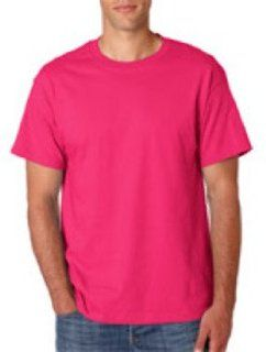 Hanes Adult Beefy T T Shirt Wow Pink M